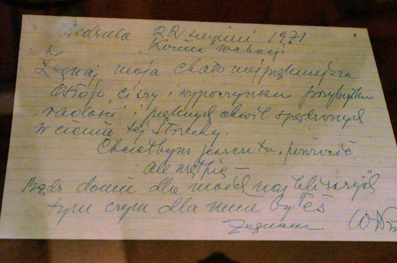 Ostatni (pożegnalny) list Wł. Puchalskiego